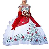 Diandiai Ball Gown Off Shoulder Quinceanera Dresses Embroidery Ruffles Bridal Dresses 2