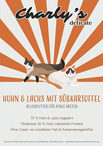 charlys delicate Kitten | mit Huhn & Lachs | getreidefreies Katzenfutter (7,5)