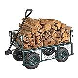 Carro de jardín plegable, carrito de jardín, carro de mano, remolque de jardín,...