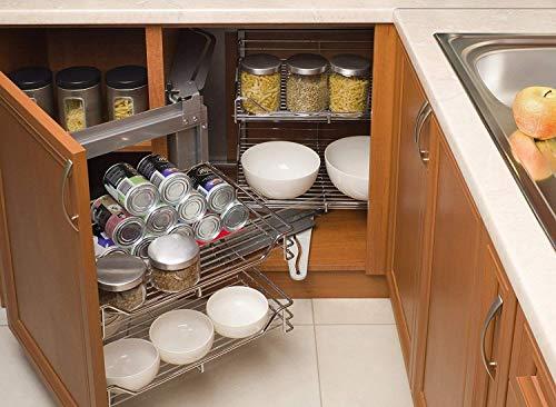 Sunerly Botella y Puede facilmente Stacker gabinete de Cocina y Nevera