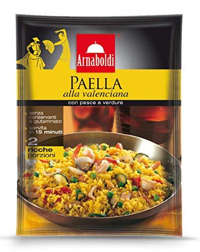 Arnaboldi Paella alla Valenciana con Pesce e Verdure [4 Confezioni da 185g]