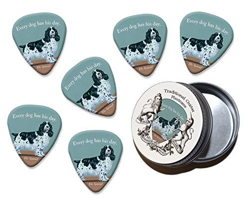 Every Dog Has It's Day Spaniel Martin Wiscombe 6 X Guitar Picks In Tin Vintage Retro