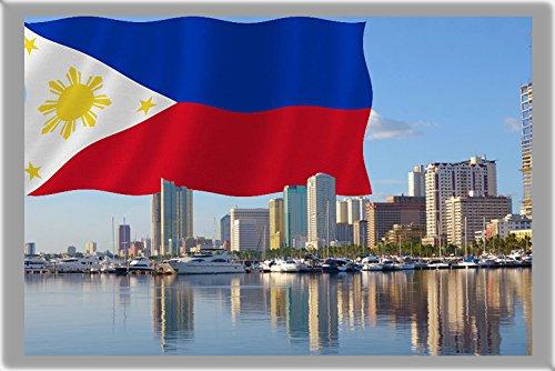 MANILA FRIDGE MAGNET, THE CAPITAL CITY OF PHILIPPINES MAGNETICA CALAMITA FRIGO