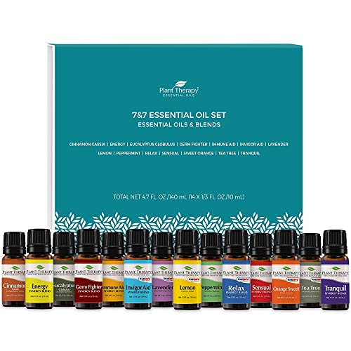 Plant Therapy 7 & 7 Essential Oilss Set 7 Single Oils: Lavender, Peppermint & More, 7 Synergy Blends 100% Pure, Undiluted, Natural Aromatherapy, Therapeutic Grade 10 mL (1/3 oz)