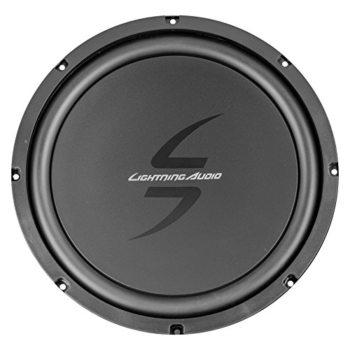 Lightning Audio by Rockford Fosgate LA1500BT MP3 Bluetooth Stereo Receiver Bundle Combo with 2X 6.5 Inch Full Range Black Car Coaxial Speakers + 2X 12 Single Voice Coil Subwoofer + Enrock 50Ft Wire