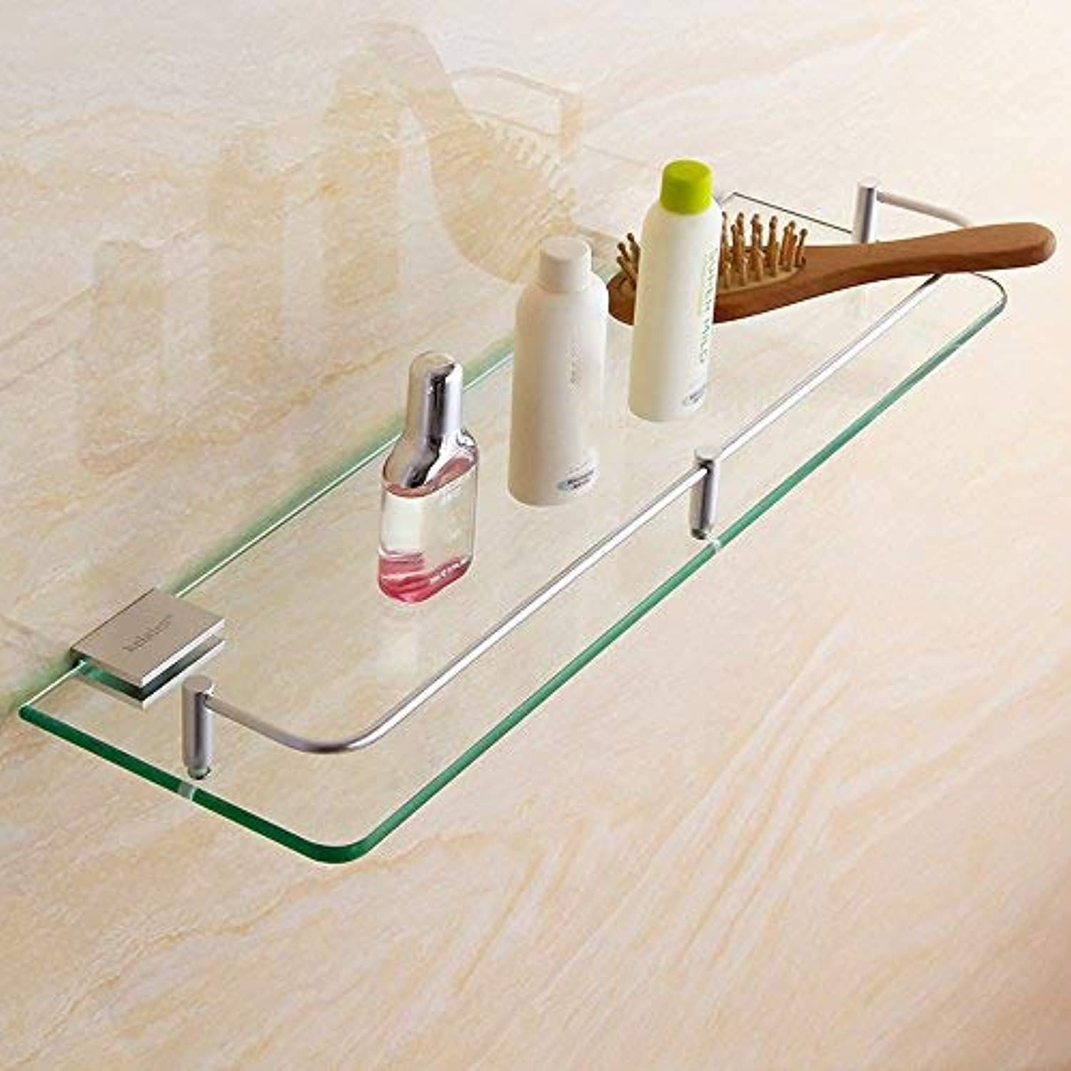 BAIF Bathroom Rack ZHIRONG Space Aluminum Glass 1 Story Wall Hanging Shelf 8 Sizes (Size   30  13cm)
