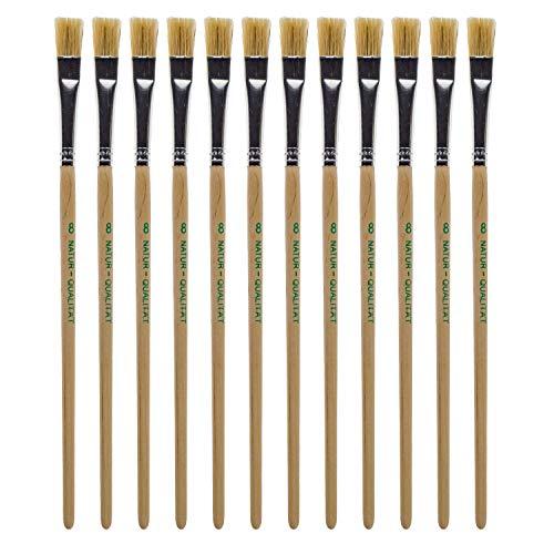 BIG-SAM Borstenpinsel | in verschiedenen Größen: 2, 4, 6, 8, 10, 12, 14, 16, 18 oder 20 | Einzeln oder in Sets: 1, 3 oder 12 Pinsel | für Wassr-, Acryl- oder Ölfarben geeignet (12, 8)