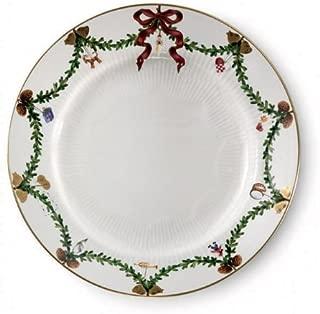 Royal Copenhagen Star Fluted Christmas Dinner Plates by Royal Copenhagen