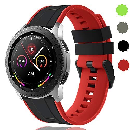 22 mm Schnellwechsel-Armbänder Kompatibel mit Samsung Galaxy Watch 46 mm/Huawei Watch GT 2 / Samsung Gear S3 Classic/Samsung S3 Frontier Silikon Sportuhrarmband für Herren Wowen DE91004 (#2)