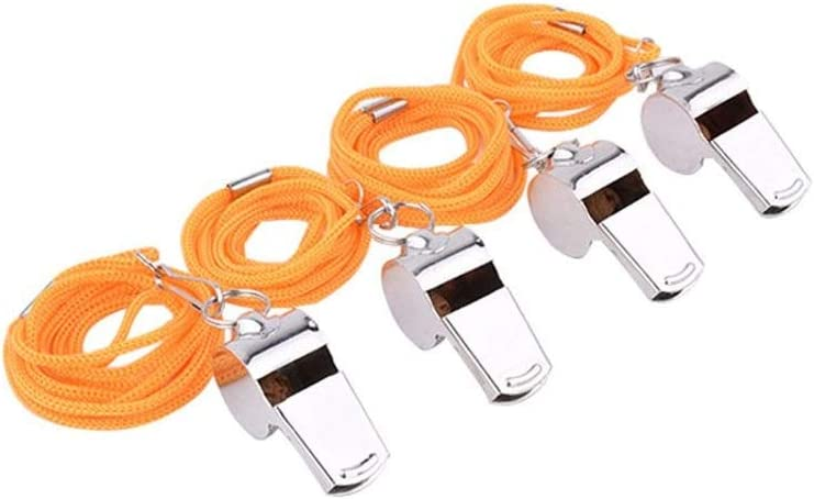 HSLINU Stainless Steel Referee Whistle Regular Max 43% OFF discount Fo Soccer Rope Metal with
