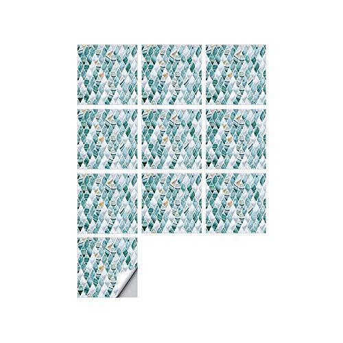 XJF 10 unids/set 3D PVC pegatinas de pared, autoadhesivo, resistente al agua, a prueba de aceite, para decoración de baño