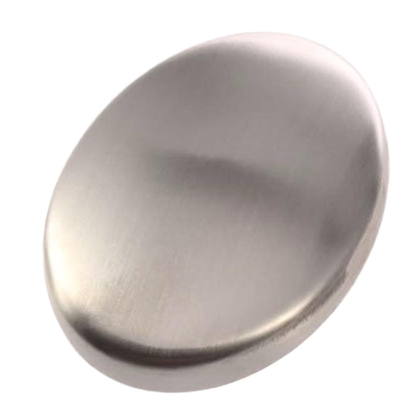 しゃがむ高める建築Zafina ステンレスソープ 円形 においとりソープ 臭い取り ステンレス石鹸