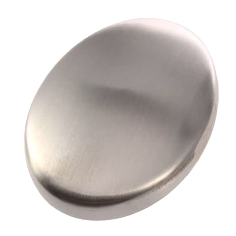 お酢定期的な期待するZafina ステンレスソープ 円形 においとりソープ 臭い取り ステンレス石鹸