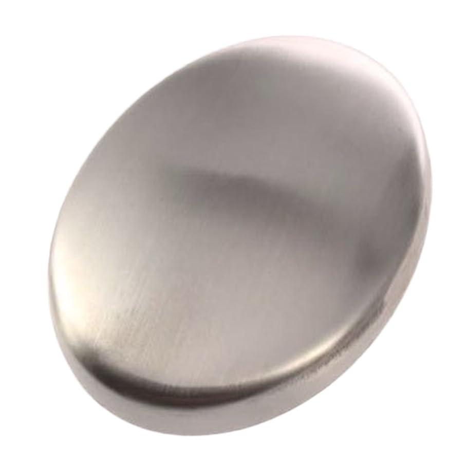 ローマ人米ドル相対サイズZafina ステンレスソープ 円形 においとりソープ 臭い取り ステンレス石鹸