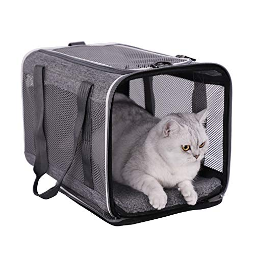 petsifam Top Load Pet Carrier for Large and Medium Cats