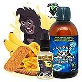 Kit Alquimia Vapeo | Biscuit Aux Banane Aroma Concentrado + Base Vapeo - 70VG/30PG - 100 ml | Sin Nicotina: 0mg | Para Vaper Cigarrillo Electronico | Sabor Flavour
