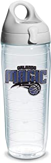 """Tervis """"NBA Orlando Magic"""" Water Bottle with Grey Lid, Emblem, 24 oz, Clear"""