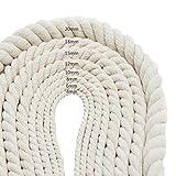 Cuerda De Algodón para Bricolaje, Cuerda De Macramé De Algodón Natural Reciclado para Bricolaje, Colgador De Macetas, para Envolver Regalos, Embalaje, Tejido Artesanal, Proyectos Decorativos