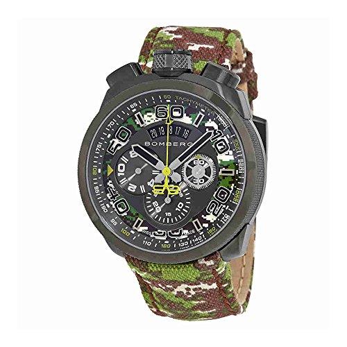 Bomberg Bolt-68 cronografo orologio da uomo con quadrante nero BS45CHPGM.038.3