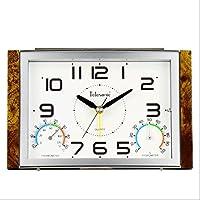 GAOLILI 従来の定常クロック温度表示アラームクロックファッションパターンの目覚まし時計 (色 : A)