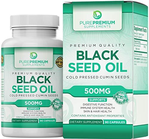 Premium Black Seed Oil Pills by PurePremium (Non-GMO & Vegetarian) Cold Pressed Nigella Sativa...