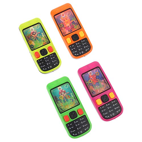 Juegos de agua para niños forma de teléfono móvil, juego de agua virola niños juguetes intelectuales, divertido juego de anillo de lazo de agua juguete
