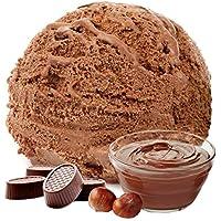 1 kg de helado de sabor en polvo de turrón de chocolate vegetariana - Azúcar - LACTOSA - GLUTEN - baja en grasa, leche en polvo helado de helado suave en polvo diabéticos Gino Gelati