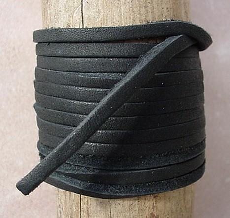 Lace Lacing Leather Topgrain Latigo Cowhide Black 10 Feet Long 1 Piece