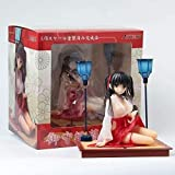YIGEYI Figura de acción de Anime Misaki Kurehito Kimono Posición sentada 16cm Figuras de PVC de PVC ...