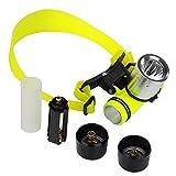 BESTUSN 1800Lm CREE T6 LED AAA/18650 Diving Swimming Headlamp Headlight Waterproof Underwater Diving Head Light...
