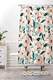 Ad4ssdu4 Rideau de Douche bohème Motif Floral Salle de Bain Décoration de Salle de Bain Style bohème Rose Décor Floral Imprimé Salle de Bain Madelyn