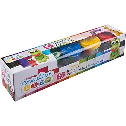 Warenhandel König (15,57 Euro / kg) Creative Kids Knete-Set 5 Farben mit je 140g Knetmasse Modellierknete Softknete Spielknete