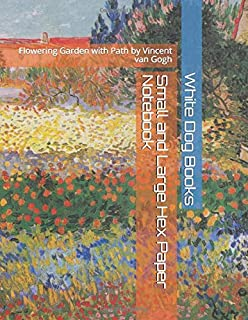 Small and Large Hex Paper Notebook: Flowering Garden with Path by Vincent van Gogh