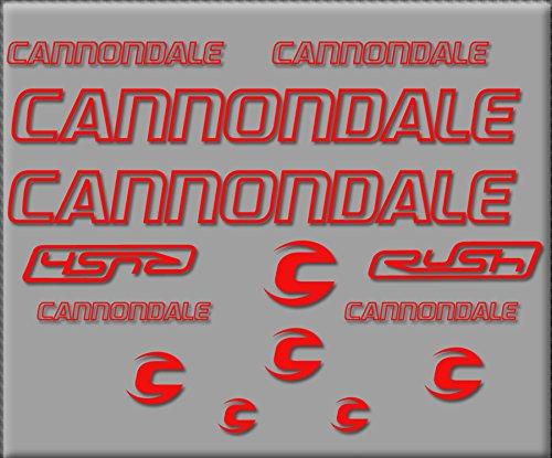 Ecoshirt AN-2VWR-C645 Aufkleber Cannondale Rush R308 Sticker, selbstklebend, Rot