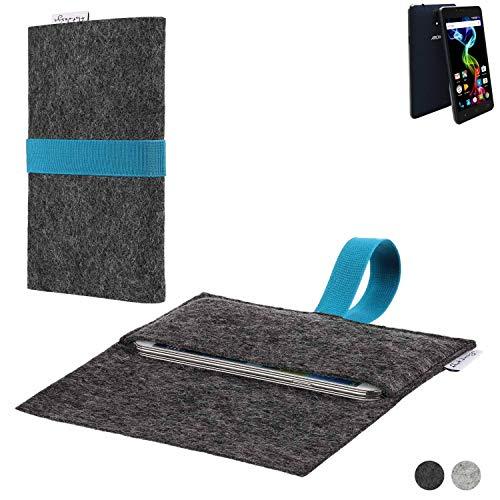flat.design Handy Hülle Aveiro für Archos 55b Platinum passgenaue Filz Tasche Case Sleeve Made in Germany