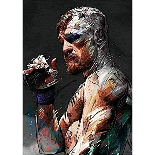 yitiantulong Leinwand Malerei Star Beast Conor McGregor Tattoo Ufc229 Motivierende Boxhandschuhe Poster MMA Fight Event Spiel Wandkunst H-481 (40X50Cm) Ohne Rahmen