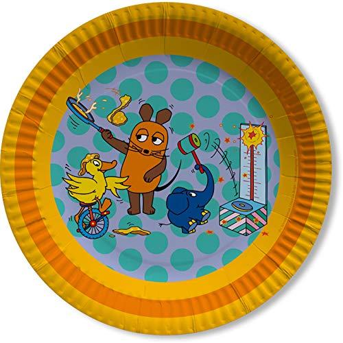 DH-Konzept Die Maus Teller 8 Stück // Partyartikel Sendung mit der Maus