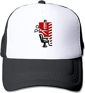 New Men Barber Shop Mesh Hat Adjustable Trucker Hat