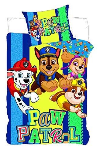 BrandMac ApS Paw Patrol - Biancheria da letto per bambini, con scritta Paw Patrol
