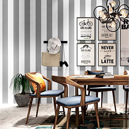 Grau Weiß Gestreiften Vlies Tapeten Dekor Moderne Wohnzimmer Schlafzimmer Café Restaurant Bekleidungsgeschäft Tv Hintergrundbild10m*0.53m