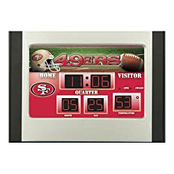 Team Sports America NFL San Francisco 49ers Scoreboard Alarm Clock, Small, Multicolored