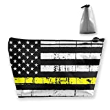 Pochette 911 Dispatcher sottile linea oro bandiera trapezoidale viaggio sacchetto di immagazzinaggio cosmetici