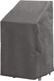 Cubierta Funda Protectora para Sillas Jardin | Gris | 66 x 95 x 133/93 cm | TÜV Rheinland Certificada | Fundas para Muebles | Impermeable / Resistente al Agua | Impermeable | Protección