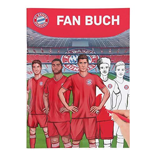Offizielles Mal- und Stickerbuch vom Rekordmeister FC Bayern München, ca. 30 x 22 cm groß, 40 Seiten mit Ausmalbildern, Spielen, Rätseln und Stickern