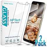 HPTech Galaxy J8 2018 Screen Protector - (2-Pack) Tempered Glass...