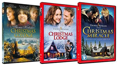 Thomas Kinkades Christmas Collection (Christmas Cottage / Christmas Lodge / Christmas Miracle)