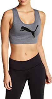 PUMA Women's Seamless Graphic Logo Crossback Sports Bra