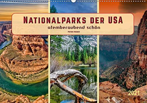 Nationalparks der USA - atemberaubend schön (Wandkalender 2021 DIN A2 quer)