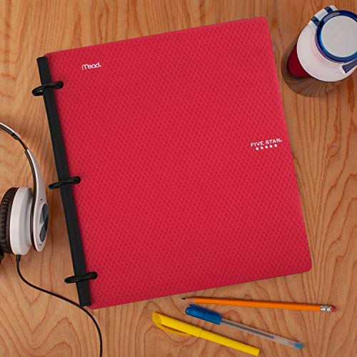 Five Star Flex Hybrid NoteBinder, 1-1/2 Inch Binder with Tabs, Notebook and 3 Ring Binder All-in-One, Assorted Colors, Color Selected for You, 1 Count (29324) Photo #4