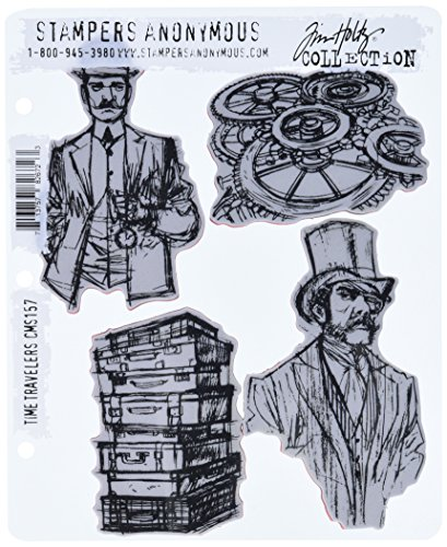 Stampers Anonymous Tim Holtz Cling Rubber Stamp Set, 7 by 8.5-Inch, Time Travelers